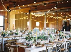 Bring the ones you love together around long, elegant farm tables - photo by @Eric Kelley, floral design by @Beehive Creative Events