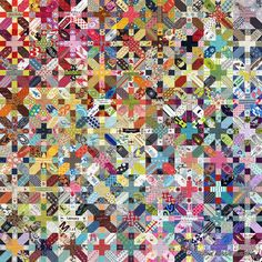Japanese + and X Quilt Progress, via Flickr.