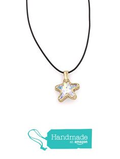 Swarovski starfish pendant necklace indicolite crystal bezel set swarovski starfish pendant necklace aurora borealis crystal bezel set greek leather cord 125 aloadofball Gallery