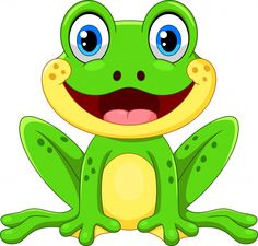 Frosch Illustration, Nature Illustration, Clipart Baby, Funny Frogs, Cute Frogs, Cartoon Crazy, Cute Cartoon, Frog Logo, Frog Pictures