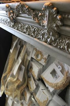 Did you know you can layer your appliques? We glued three moldings on top of a trim piece to create a center motif on this bookcase at Maison Decor.