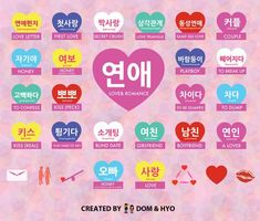 Korean love and dating phrases with an infographic! Learn Korean love and dating phrases with an infographic!Learn Korean love and dating phrases with an infographic! Learn Basic Korean, How To Speak Korean, Korean Words Learning, Korean Language Learning, Spanish Language, Italian Language, German Language, Japanese Language, French Language