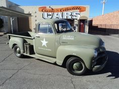 Cool '54 Chevy Truck (army ed.)