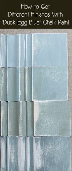Hometalk :: How to Get Different Finishes With Duck Egg Blue Chalk Paint