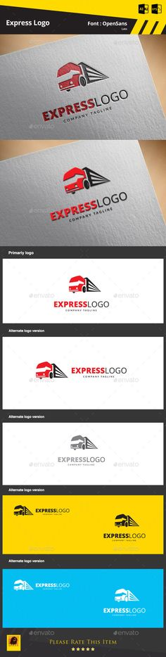 Express Logo Template — AI Illustrator #truck #shipping • Available here → https://graphicriver.net/item/express-logo-template/9498504?ref=pxcr