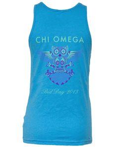 Chi Omega Electro Owl www.adamblockdesign.com #skull