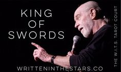 George Carlin is the perfect archetype of the King of Swords for me. So intelligent incisive and irreverent in the holiest way. He was always willing to speak truth to power and call out the naked emperors of the world. Who would you cast?  #wits #writteninthestars #tarot #tarotcards #courtcards #king #kingofswords #sharp #incisive #georgecarlin #tarotreader #tarotreading #tarotreadersofinstagram #archetype #archetypes #speaktruthtopower #tarotcommunity #yourhighness #witch #witchy…