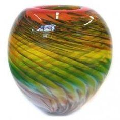 Small Vintage Hand Blown Murano/Venetian Art Glass Vase~Ruffle Edge in Pottery & Glass, Glass, Art Glass Colored Glass Vases, Pots, Art Of Glass, Venetian Glass, Picture Design, Glass Design, Hand Blown Glass, Glass Ornaments, Colorful Interiors