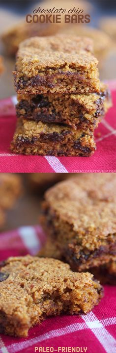 Best Ever #Paleo Cookie Bars