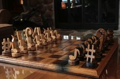 Musical chess pieces