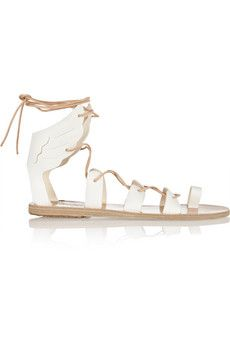 Ancient Greek Sandals Fteroti leather lace-up sandals | THE OUTNET
