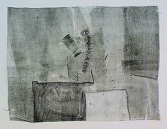 takahikohayashi:  Untitled monotype printmono type print , drawing 林孝彦 HAYASHI Takahiko 1984