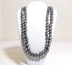 Double Strand Gray Baroque Pearls by KatsCache on Etsy, $69.95