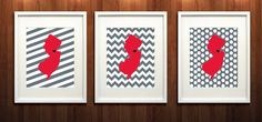 New Brunswick New Jersey Set of Three Giclée Prints by PaintedPost, $37.00 #paintedpoststudio - Rutgers University - Scarlet Knights What a great and memorable gift for graduation, sorority, hostess, and best friend gifts! Also perfect for dorm decor! :)