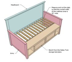"Hailey Storage Daybed with Back and Arms...i need this for my living room! maybe a lil wider ""arms"""