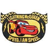 Wrights Disney Cars Iron-On Appliques-Lightning Mcqueen I Am Speed