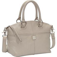 Piazza Lucca Satchel Grey - Piazza Leather Handbags