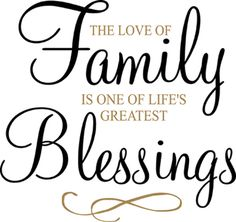 family poems and quotes | Family Blessings | Wall Decals - Trading Phrases