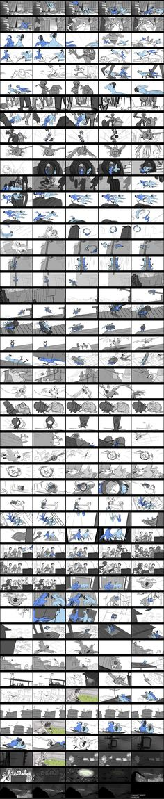 Thumbnail drawings of how an animation will plan out. From start to finish. Storyboard Examples, Animation Storyboard, Storyboard Artist, Animation Reference, Blue Sky Studios, Color Script, Visual Development, Art Plastique, Art Tutorials