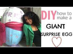 DIY: how to make giant surprise egg / easter egg - YouTube