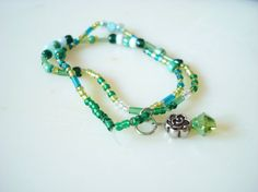 Green Rose Anklet by ShinningLights on Etsy, $3.99