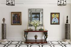 Black and White Floors - Decorating Inspiration Photos | Architectural Digest