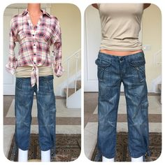"7 for all Mankind cropped tie Jeans. Worn Once, like new, no flaws. Cute with wedges. Super cute in person. Sits low on hips. Waist 27'. Inseam 20'. Left back pocket/lower side pocket. 2 front zipper pockets. Can be worn tied/untied at end of Jeans. However they look super cute tied for a unique look. No Trades/PayPal. Reasonable negotiations using the ""offer"" button. 7 for all Mankind Jeans Ankle & Cropped"