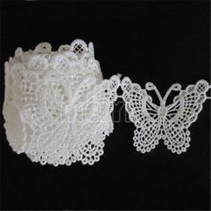 Vintage Butterfly Embroidered Lace Edge Trim Ribbon Appliques DIY Sewing Craft | eBay