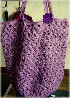 Die Häkel Eule -  Gehäkelte Tasche / Einkaufsnetz   Lacy Crochet Market Bag from Red Heart