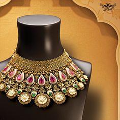 #DesignerBridalJewellery #BridalJewellery #Bride #IndianBride #IndianTraditionalBride #BridalOutfits #IndianJewellery #Jewellery #FashionJewellery #Fashion #GoldNecklace #GoldJewellery