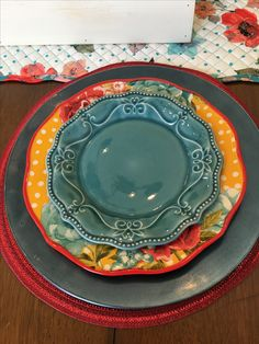 The Pioneer Woman Melody 8 75 Inch Salad Plate Pioneer