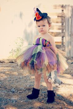 Boutique Toddler Witch Costume and Witch Hat Headband. $45.50, via Etsy.