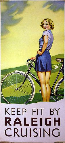 Vintage Raleigh bicycling poster