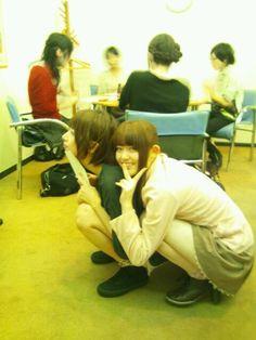 """乃木坂46 (nogizaka46) the most cute OTP ~ 松村沙友理 (Matsumura Sayuri) and 橋本奈々未 (Hashimoto Nanami) ~ Sayuringo ♥ Nanamin ~ sayuringo """"i were having battle with nanamin to get asyurin but i forfeit and i choose nanamin instead cause i beaten by nanamin cuteness ( > _ < ) ~ darn i really love this couple ~ ♥ ♥ ♥ ♥ ♥ ♥ ♥ ♥"""
