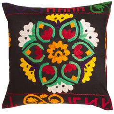 Vintage Suzani Pillow. This would be beautiful on the Dromedary love seat or on another piece of furniture to visually connect to the Dromedary. #DreamRobshaw