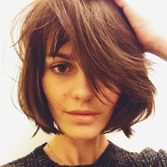 cute bob haircut. want to grow out my hair to this look. currently in the awkward phase.