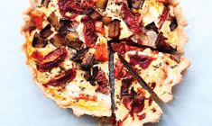 Think of this tart as a brawny quiche, perfect for brunch or dinner. Roasted Vegetable Tart   Bon appetit