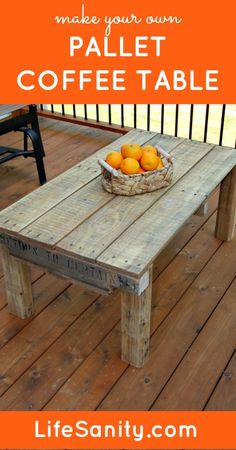 Make Your Own Pallet Coffee Table | Life Sanity