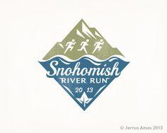 River Run Logo Design | More logos http://blog.logoswish.com/category/logo-inspiration-gallery/ #logo #design #inspiration