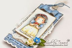 Handmade by Tamara: Tilda with apple bookmark