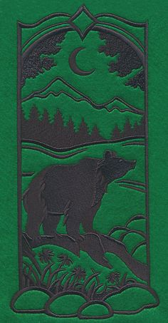 Wild Woods Silhouette - Bear design (M7659) from www.Emblibrary.com