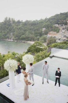 How about getting married at an altar located right by an infinity pool, overlooking such a view?