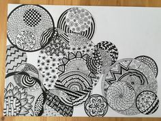 Zentangle doodle. Done by me.