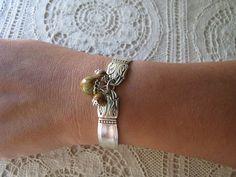 "From The Bead Ladies' etsy shop — Bracelet - Spoon Jewelry - Antique Silver Plate Spoons -  ""Danish Princess"",  Holmes & Edwards, 1938 - Silverware Bracelet"