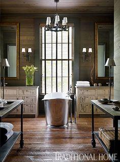 Lake Martin residence, AL. Architect Bobby McAlpine. Designer Susan Ferrier. Emily Jenkins Followill photo in Traditional Home. #interiordesign