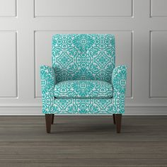 Portfolio Alex Turquoise Damask Arm Chair    Overstock.com Shopping - The Best Deals on Living Room Chairs