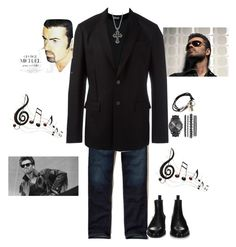 """""""R I P George Michael"""" by agordon9369 ❤ liked on Polyvore featuring Hollister Co., Dolce&Gabbana, Givenchy, Degs & Sal, Benzara, men's fashion, menswear, carelesswhispers, fatherfigure and iknewyouwerewaiting"""