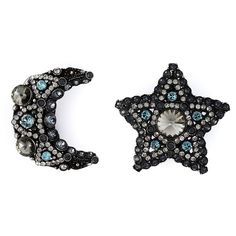 Lanvin star and moon clip-on earrings (2.390 RON) ❤ liked on Polyvore featuring jewelry, earrings, metallic, lanvin jewelry, clip on earrings, lanvin, clip back earrings and clip earrings