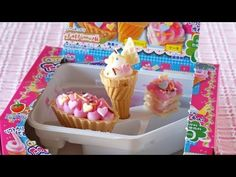 How to Make Kracie Popin' Cookin' DIY Fun Cake Shop Kit クラシエ ポッピンクッキン たのしいケーキやさん - YouTube