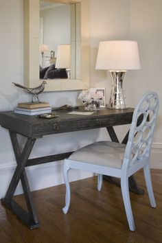 Desk/Vanity in our bedroom/designed by Jute
